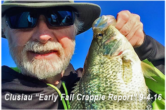 image links to greg clusiau's fall crappie report