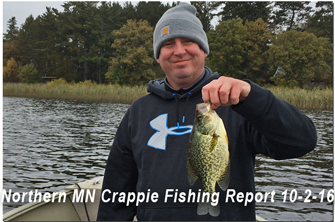 image of Justin John with big crappie