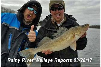 image of john paul tessier with rainy river walleye