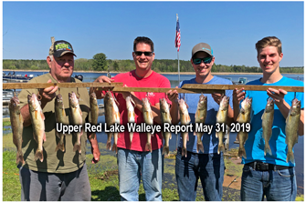 image links to fishing report from upper red lake
