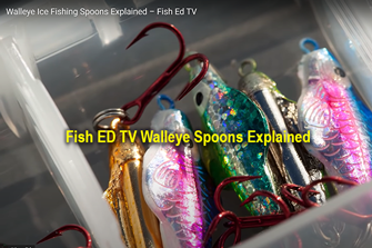 image links to Fish ED video about spoon selection for walleye fishing
